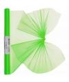 Neon groene organza stof op rol 40 x 200 cm