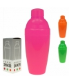 Neon kleurige cocktailshakers 350 ml