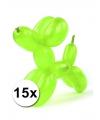 Neon modelleerballonnen 15 stuks