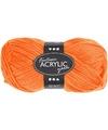 Neon oranje acryl garen 80 meter