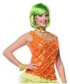 Neon oranje dames hemd
