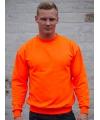 Neon oranje sweater voor heren just hoods