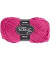 Neon roze acryl garen 80 meter