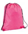 Neon roze gymtas met rijgkoord