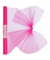 Neon roze organza stof op rol 40 x 200 cm