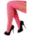 Neon roze panty met gaten