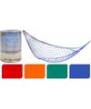 Net hangmat blauw 80 x 275 cm