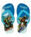 Ninja turtles teenslippers blauw voor jongens