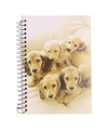 Notitieboekje a6 golden retriever pups