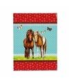 Notitieboekje a7 paarden blauw rood