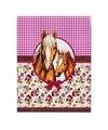 Notitieboekje a7 paarden roze ruit bloem