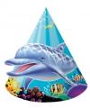 Oceaan thema feesthoedjes 8 stuks