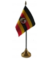 Oeganda tafelvlaggetje inclusief standaard