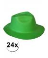 Oktoberfest 24 groene hoedjes van foam