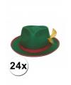 Oktoberfest 24 tiroler hoedjes groen