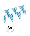 Oktoberfest 3x beieren vlaggenlijn blauw wit 4 m