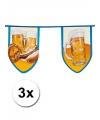 Oktoberfest 3x grote bierfeest vlaggenlijn 8 meter