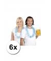 Oktoberfest 6 beieren hawaii krans blauw wit