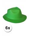 Oktoberfest 6x groene hoed van foam