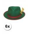 Oktoberfest 6x tiroler hoedje groen
