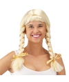 Oktoberfest blonde heidi pruik met vlechten