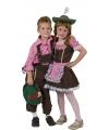 Oktoberfest geruit overhemd voor kinderen roze