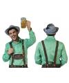 Oktoberfest groene geruite blouse voor heren