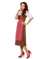 Oktoberfest grote maat lange tiroler jurk