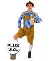 Oktoberfest grote maten korte lederhose markus lichtbruin voor heren