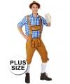 Oktoberfest grote maten lange lederhose markus lichtbruin voor heren