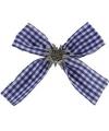 Oktoberfest haarclip strik beieren motief blauw