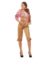 Oktoberfest luxe dames lederhose