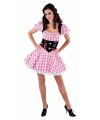 Oktoberfest sexy tiroolse dames jurk roze