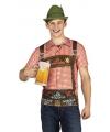 Oktoberfest shirt tiroler opdruk heren