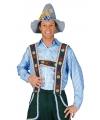 Oktoberfest tiroler blouse blauw voor heren