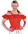 Oktoberfest tiroler blouse carmen rood