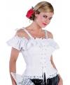 Oktoberfest tiroler blouse carmen wit