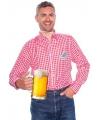 Oktoberfest tiroler blouse rood wit voor heren