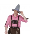 Oktoberfest tiroler blouse roze voor heren