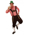 Oktoberfest tiroler broek lang model bruin