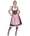 Oktoberfest tiroler dirndl bruin en roze