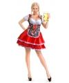 Oktoberfest tiroler dirndl jurk met bloemen