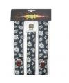 Oktoberfest zwarte edelweiss bretels met bloemen