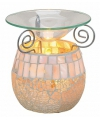 Oliebrander mozaiek glas 12 cm