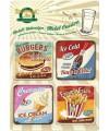 Onderzetters fast food 4 stuks