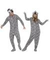Onesie zebra voor volwassenen
