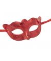 Oogmasker metallic rood