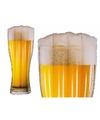 Opblaas luchtbed bierglas 180 cm