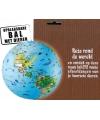 Opblaas wereldbol dieren 30 cm