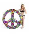 Opblaasbaar hippie peace teken 120 cm